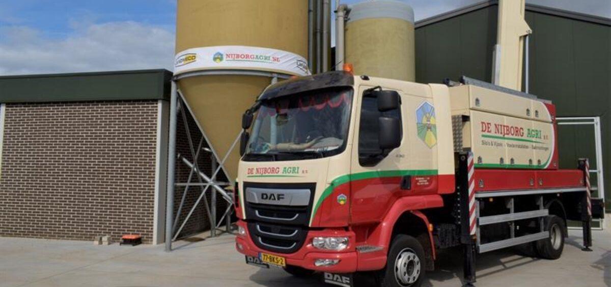 Vrachtwagen van Nijborg Agri